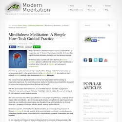 Mindfulness Meditation - A Simple Guide