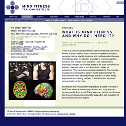 Mindfulness-based Mind Fitness Training (MMFT) - Mind fitness, neuroplasticity, and stress resilience