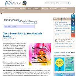 Give a Power Boost to Your Gratitude Practice