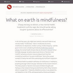What on earth is mindfulness?