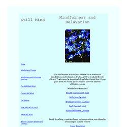 Mindfulness & Relaxation