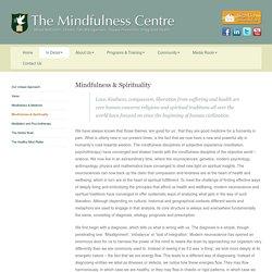 Mindfulness & Spirituality
