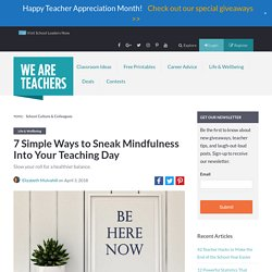 Mindfulness for Teachers - A Guide for Educators