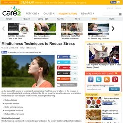Mindfulness Techniques to Reduce Stress