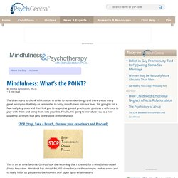 Mindfulness: What's the POINT?