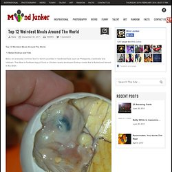 Top 12 Weirdest Meals Around The World