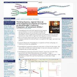 Thinking Express, logiciel libre de mind mapping qui importe et exporte en Mindmanager, Freemind, Freeplane..et seulement 830Ko !