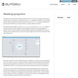 Mindmap perspective