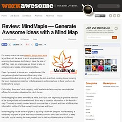 Review: MindMaple — Generate Awesome Ideas with a Mind Map