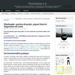 Mindmaple : gestion de projet, export Excel et diagramme de Gantt