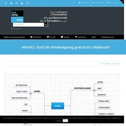 Mind42. Outil de mindmapping gratuit et collaboratif