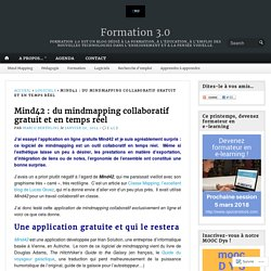 Mind42 : du mindmapping collaboratif gratuit et en temps réel