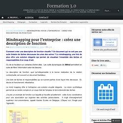 Mindmapping pour l'entreprise : créer une description de fonction