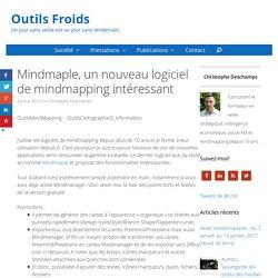 Mindmaple, un nouveau logiciel de mindmapping intéressant