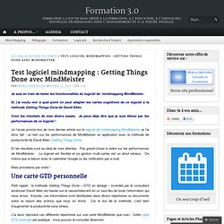 Test logiciel mindmapping : Getting Things Done avec MindMeister