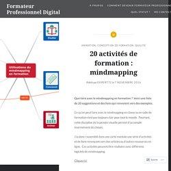 20 activités de formation : mindmapping – Formateur Professionnel Digital