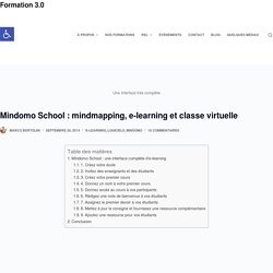Mindomo School : mindmapping, e-learning et classe virtuelle