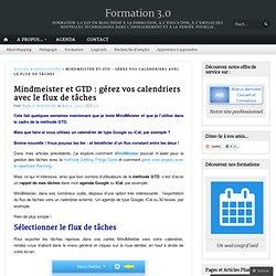 Mindmeister et GTD : gérer vos calendriers avec le flux de tâches