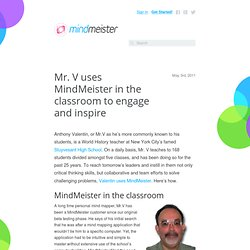 Mr. V uses MindMeister in the classroom to engage and inspire | MindMeister Blog