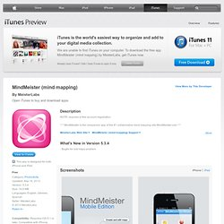 MindMeister for iPad for iPad on the iTunes App Store