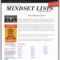 The Mindset Lists of American History