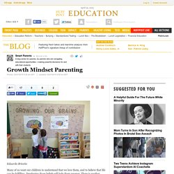 Growth Mindset Parenting