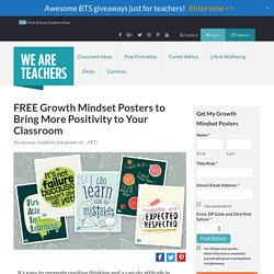 Growth Mindset Posters to Bring More Positivity to Your Classroom