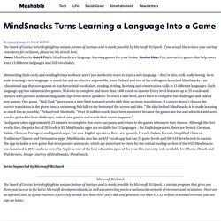 MindSnacks Turns Learning a Language Into a Game