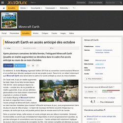 Minecraft Earth - Minecraft Earth en accès anticipé dès octobre - JeuxOnLine