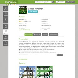 Cheats Minecraft Applications Android