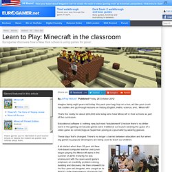 Learn to Play: Minecraft in the classroom