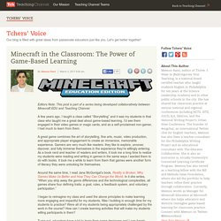 Minecraft In The Classroom: The Power Of Game-Based Learning
