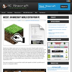 Mcedit, un Minecraft World Editor pour PC