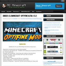 [MOD][1.5.2]minecraft- Optyfine Ultra 1.5.2