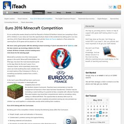 Euro 2016 Minecraft Competition