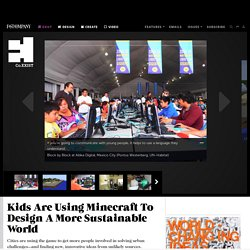 Kids Are Using Minecraft To Design A More Sustainable World