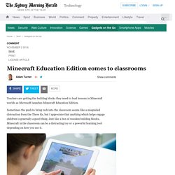 Minecraft Education Edition comes to classrooms