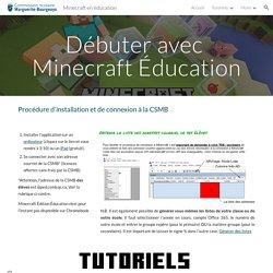 Minecraft en éducation - Débuter avec Minecraft