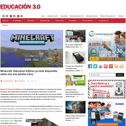 Minecraft: Education Edition ya está disponible, estos son sus puntos clave