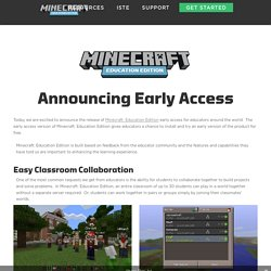 Education Edition Early Access - Minecraft Education Edition