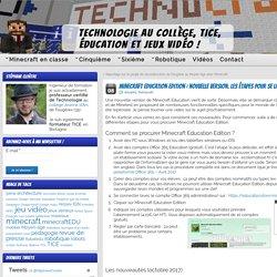 Minecraft Education Edition : nouvelle version. Les étapes pour se la procurer. » Technologie collège, TICE, jeux vidéo et éducation
