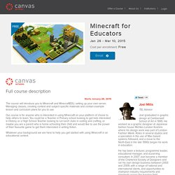 Minecraft for Educators - Canvas Network