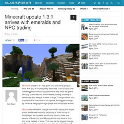 Minecraft update 1.3.1 arrives with emeralds and NPC trading