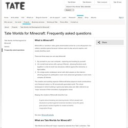 Tate Worlds for Minecraft: Frequently asked questions