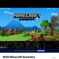3ESO Minecraft Geometry by Davinia Quevedo on Genially