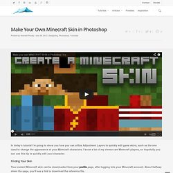 Make Your Own Minecraft Skin in Photoshop