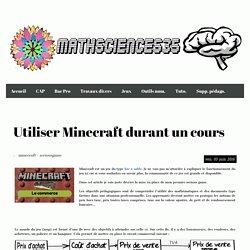 Utiliser Minecraft durant un cours - Mathsciences35
