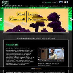 Minecraft Modding Classes - ThoughtSTEM