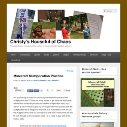 Minecraft Multiplication Practice - Christy's Houseful of Chaos