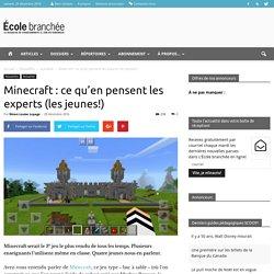 Minecraft : ce qu'en pensent les experts (les jeunes!)
